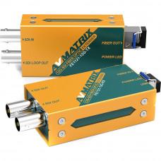 AVMATRIX FE1121-12G Fiber Optic Extender Transmitter Receiver