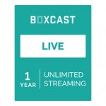 BoxCast Live 1-Year Live Streaming Subscription BXC-PLAN-LIVE