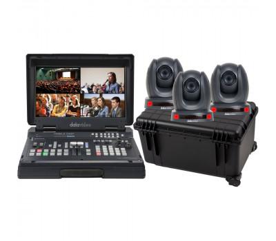 Datavideo HS-1600T-3C150TCM Complete HDBaseT Mobile Cast Kit