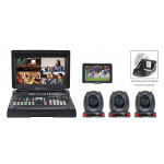 Datavideo HS-1600T-3C150TM Portable Web Production Bundle with 3x HDBaseT Cameras