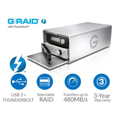 G-Technology G-RAID 8TB Thunderbolt USB 3.0 0G04085