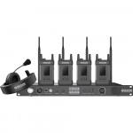 Hollyland SYSCOM 1000T 4 Belt Packs Full Duplex Intercom System