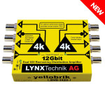 LYNX Technik DVD 1423 12G Dual 1:3 SDI Distribution Amplifier
