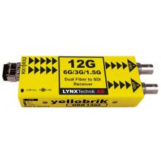 LYNX Technik ORR 1402 Dual Channel 12G to SDI Fiber Optic Receiver