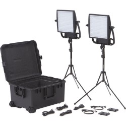 Litepanels Astra 1x1 Bi-Color LED Traveler Duo Gold Mount Kit 935-3008