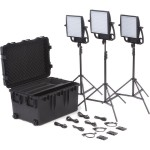 Litepanels Astra 1x1 Bi-Color LED Traveler Trio V-Mount Kit 935-3002