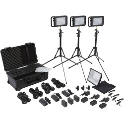 Litepanels Lykos Bi-Color Traveler Trio Kit and Battery Bundle 935-3101