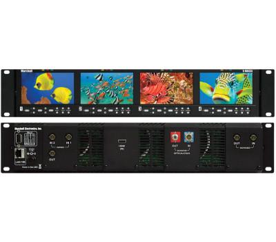 Marshall Electronics V-MD434 Quad High Resolution LCD 2RU Rack Mount Monitor