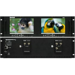 Marshall Electronics V-MD72 Dual High Resolution LCD Rack Mount Monitor