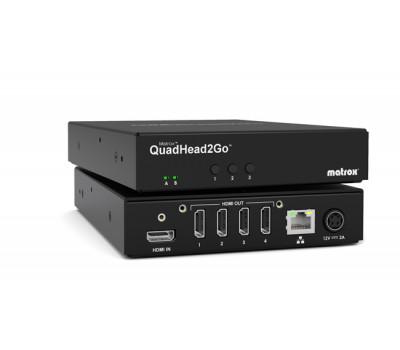 Matrox QuadHead2Go Q2G-H4K Multi-Monitor Video Wall Controller