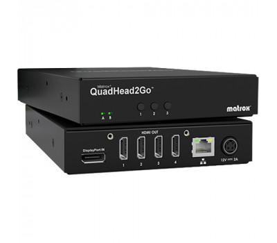 Matrox QuadHead2Go Multi-Monitor Video Wall Controller Q2G-DP4K
