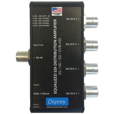 Osprey SDAD-4 Equalized 3G Distribution Amplifier with DVB-ASI