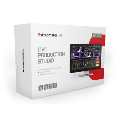 Streamstar KIT HD-SDI Live Production Streaming Software and Hardware with 4 HD-SDI Inputs