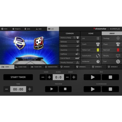 Streamstar ScorePLUS Various Sports Modules